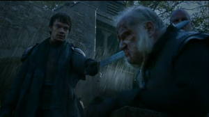 Theon tries it